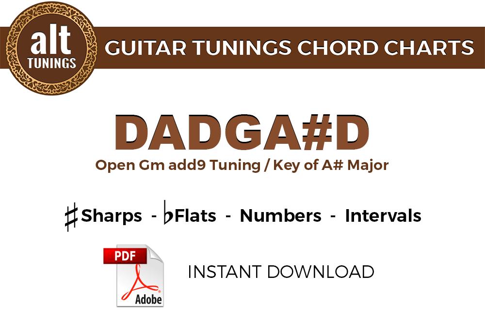 Guitar Tunings Chord Charts Dadgad Alt Tunings