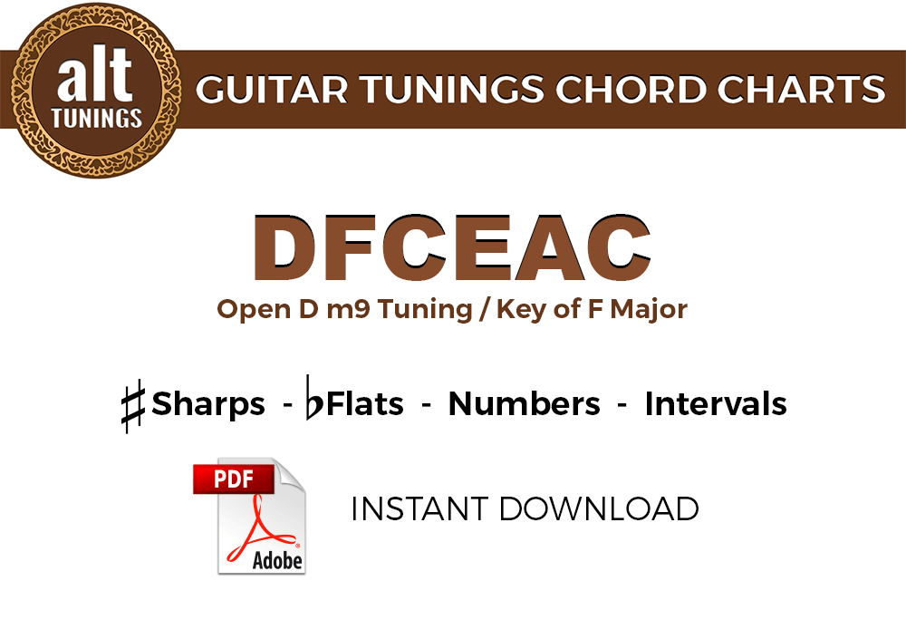 Guitar Tunings Chord Charts DFCEAC