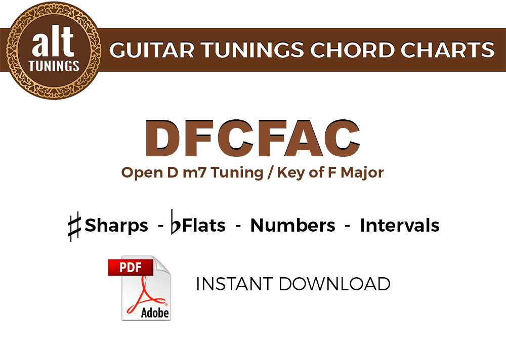 Guitar Tunings Chord Charts DFCFAC