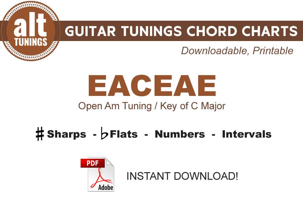 Guitar Tunings Chord Charts Eaceae Alt Tunings